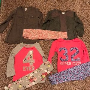 4 winter shirts and 3 leggings to match!!